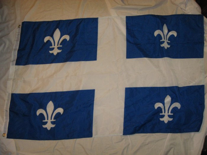 CANADA QUEBEC PROVIENCE FLAG SIZE 3X5 3 X 5 NEW