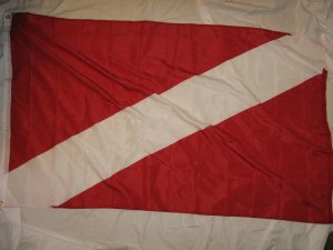 UNIVERSAL DIVE FLAG FLAG 3X5 3 X 5 NEW