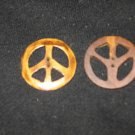 YAK BONE HAND CARVED PEACE SYMBOL BUTTONS 2 NEW