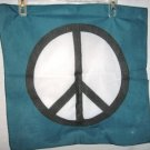 VERY COOL PEACE SIGN BANDANA SIZE 22 X 22 NWOT
