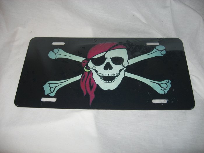 PIRATE RED BANDANA LICENSE PLATE 6 X 12 NEW