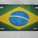 BRAZIL BRAZILIAN NATIONAL FLAG LICENSE PLATE 6 X 12 NEW
