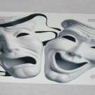 THEATRE MASKS LICENSE PLATE 6 X 12 NEW