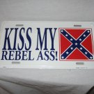 KISS MY REBEL LICENSE PLATE NEW 6 X 12 METAL