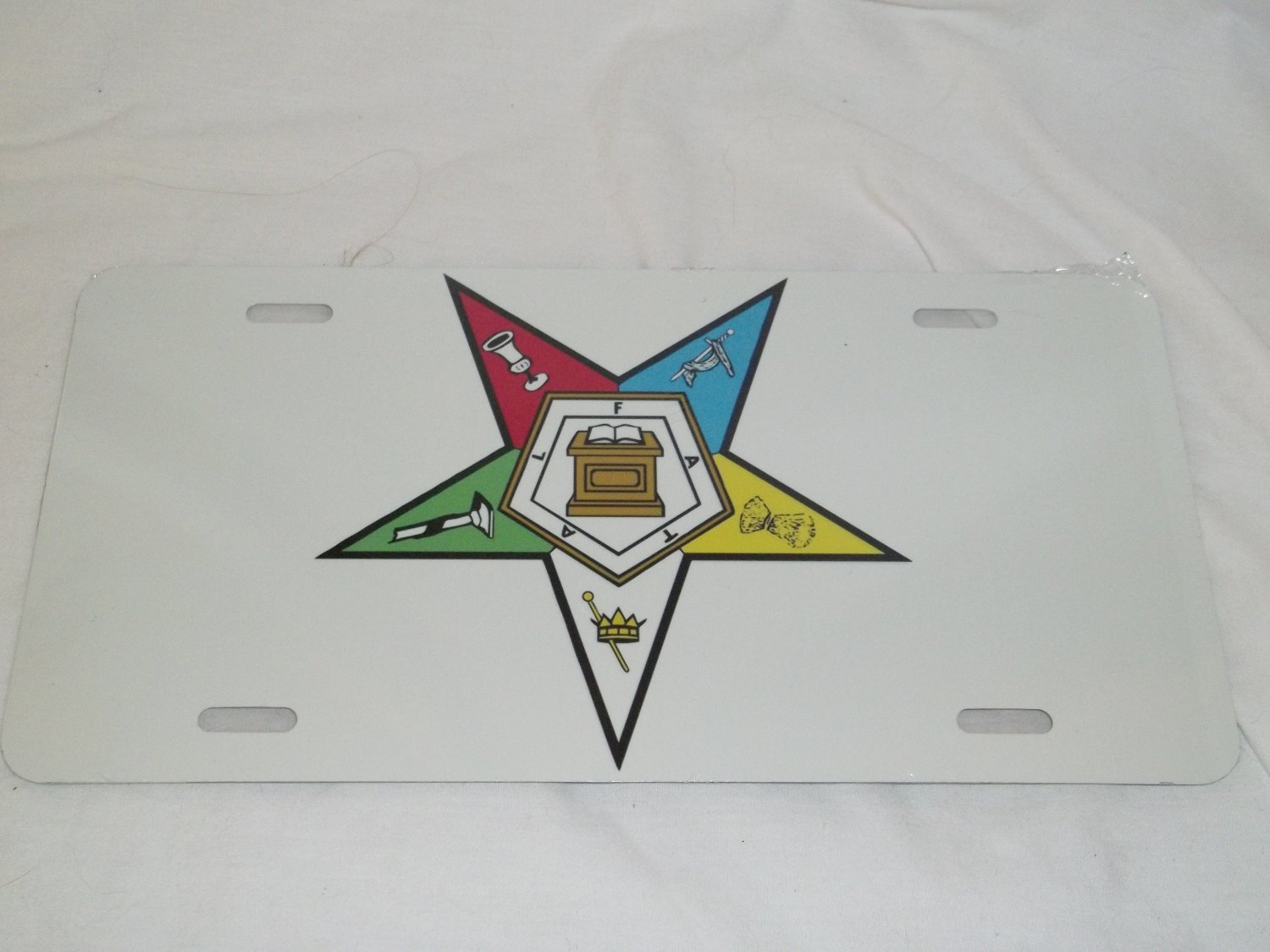 ORDER OF THE EASTERN STAR LICENSE PLATE 6 X 12 NEW