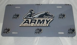ARMY BLACK KNIGHTS LICENSE PLATE 6 X 12 NEW ALUMINUM
