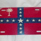 SOUTH CAROLINA SOVEREIGNTY GRUNGE STYLE FLAG LICENSE PLATE 6 X 12 NEW