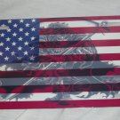 USA GRIM REAPER FLAG LICENSE PLATE 6 X 12 NEW