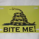 GADSDEN BITE ME FLAG LICENSE PLATE 6 X 12 NEW