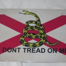 ALABAMA STATE GADSDEN FLAG LICENSE PLATE 6 X 12 NEW ALUMINUM
