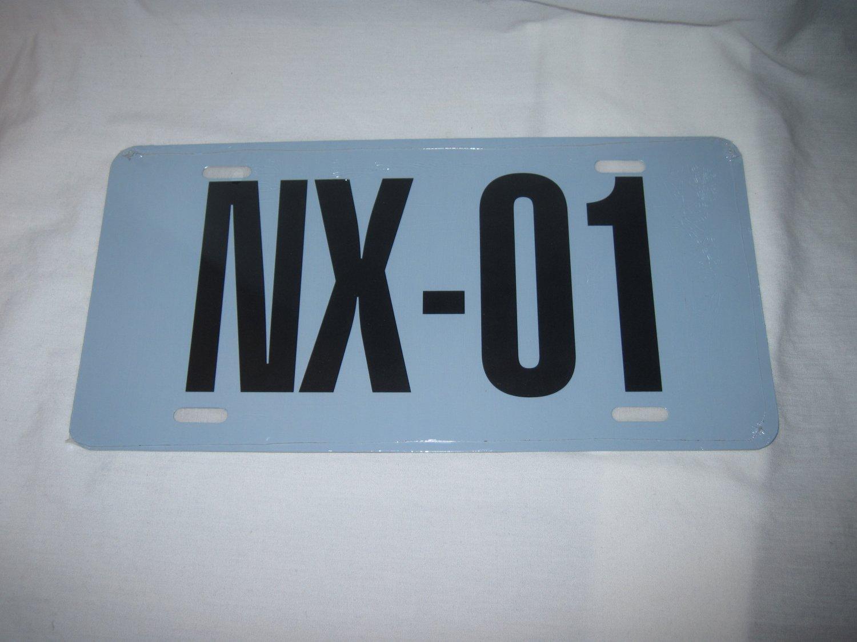 NX-01 THE FIRST ENTERPRISE STAR TREK LICENSE PLATE 6 X 12 NEW GREY