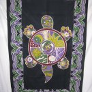 PSYCHEDELIC TURTTLE TAPESTRY BED COVER TABLE CLOTH NWT