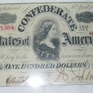 CSA CONFEDERATE 100 DOLLAR BILL 1863 LICENSE PLATE ALUMINUM 6 X 12 NEW