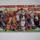 CIRCUS CLOWNS LICENSE PLATE SIZE 6 X 12 INCHES ALUMINUM NEW