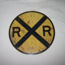 RAILROAD CROSSING SIGN SIGN 8 INCHES NEW REPRODUCTION STEEL