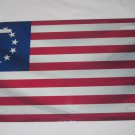 BETSY ROSS USA 13 STAR FLAG LICENSE PLATE 6 X 12 INCHES NEW ALUMINUM
