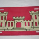 ARMY CORPS OF ENGINEERS FLAG LICENSE PLATE 6 X 12 INCHES NEW ALUMINUM