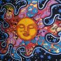 SLEEPING SUN AND STARS TAPESTRY 54 X 86 COTTON NWT