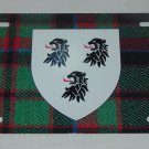 SCOTTISH CLAN BUCHAN BUCHANAN LICENSE PLATE 6 X 12 INCHES NEW ALUMINUM SCOTLAND
