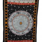 ZODIAC Astrology Tapestry 54 X 86 Aprox New WHITE