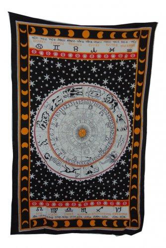 ZODIAC Astrology Tapestry 54 X 86 Aprox New WHITE