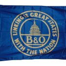 B AND O  B&O RAILROAD FLAG FLAG 3 X 5 3X5 NEW EXCLUSIVE