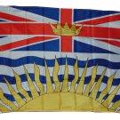 BRITISH COLUMBIA CANADA FLAG, 3 X 5, 3X5 NEW!!