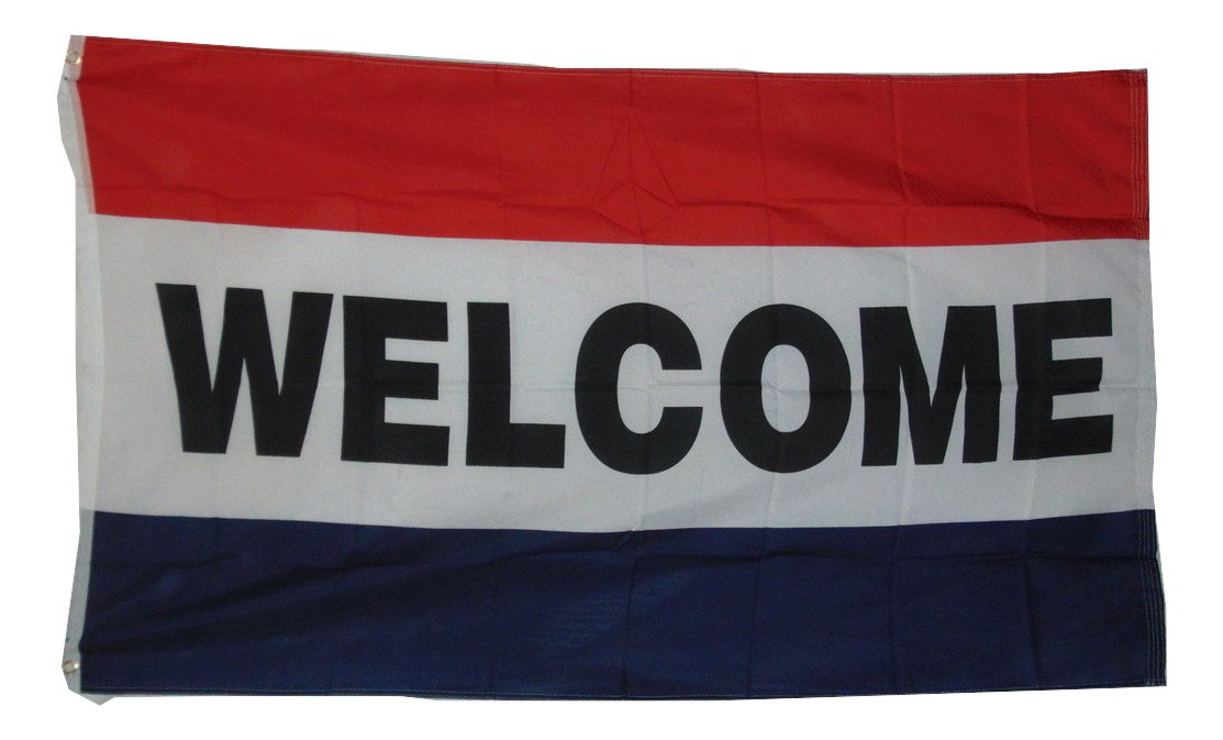 WELCOME STORE FLAG SIZE 3X5 3 X 5 NEW