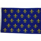 SMALL FLEUR DE LIS BLUE FRENCH FRANCE FLAG SIZE 3 X 5 3X5 NEW