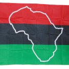 AFRICAN AFRO AMERICAN AFRICA CONTINENT MAP FLAG 3 X 5 3X5 FEET POLYESTER NEW