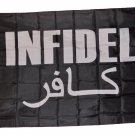 INFIDEL ARABIC AND ENGLISH FLAG SIZE 3 X 5 3X5 NEW