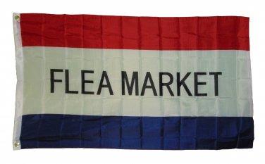 FLEA MARKET FLAG SIZE 3X5 3 X 5 FEET NEW POLYESTER BLOCK LETTER