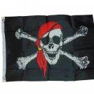 PIRATE RED BANDANA FLAG 2 X 3 2X3 NEW
