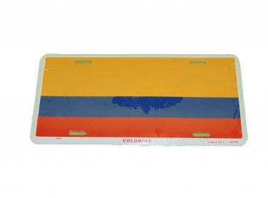 COLUMBIA NATIONAL FLAG LICENSE PLATE 6 X 12 INCHES NEW ALUMINUM
