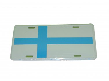FINLAND NATIONAL FLAG LICENSE PLATE 6 X 12 INCHES NEW ALUMINUM