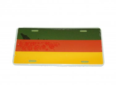 GERMANY CIVIL NATIONAL FLAG LICENSE PLATE 6 X 12 INCHES NEW ALUMINUM