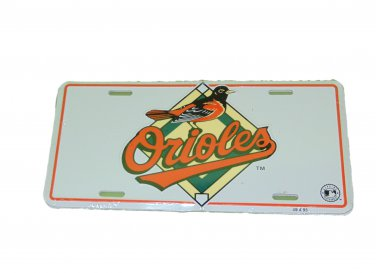 BALTIMORE ORIOLES MLB LICENSE PLATE 6 X 12 INCHES NEW ALUMINUM