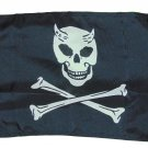 DEVIL PIRATE JOLLY ROGER SKULL FLAG POLYESTER 12 X 18 INCHES BOAT BIKE FORT