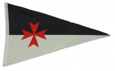 TEMPLAR KNIGHTS BATTLE FLAG PENNANT 3 X 5 3X5 FEET POLYESTER NEW CRUSADER