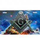 COSMIC FREEMASONS SPACE GALAXY LICENSE PLATE 6 X 12 INCHES NEW ALUMINUM