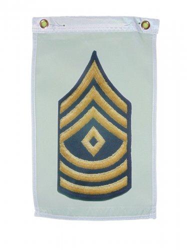 U.S. ARMY FIRST SERGEANT GARDEN FLAG DOOR HANGAR 12 X 18 INCHES 2 GROMMETS