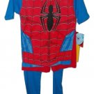 SPIDERMAN COSTUME 3 PICE PAJAMA SET SIZE 4 CHILD NWT