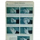 VINTAGE FINGER EXCERCISE DIAGRAM REPRODUCTION SIGN 8 X 12 INCHES NEW ALUMINUM