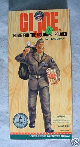 """GI Joe 12"""" Home for the Holidays Soldier Af Am  MIB !"""