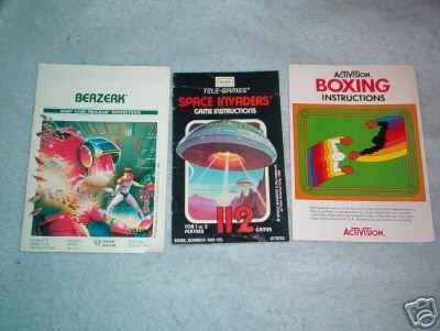 Atari 2600 Game Manuals Berzerk Space Invaders Boxing +