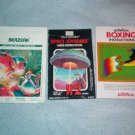 Atari 2600 Game Manuals Berzerk Space Invaders Boxing +