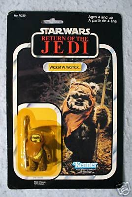 Star Wars Vintage ROTJ Wicket W Warrick 77 back MOC