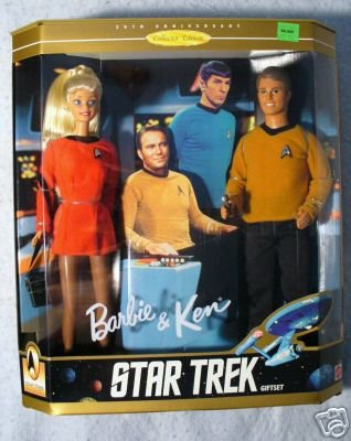 STAR TREK  BARBIE and KEN 30th Anniversary  MIB