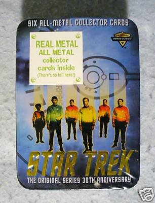 Star Trek Metal Collector Cards 30th Anniversary MIB