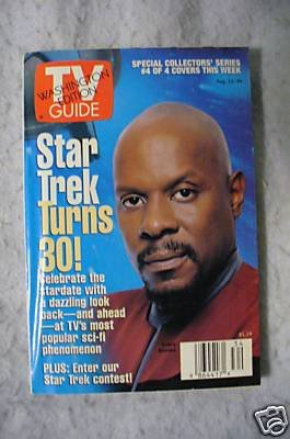 Star Trek Tv Guide Sisko 30th Cover.